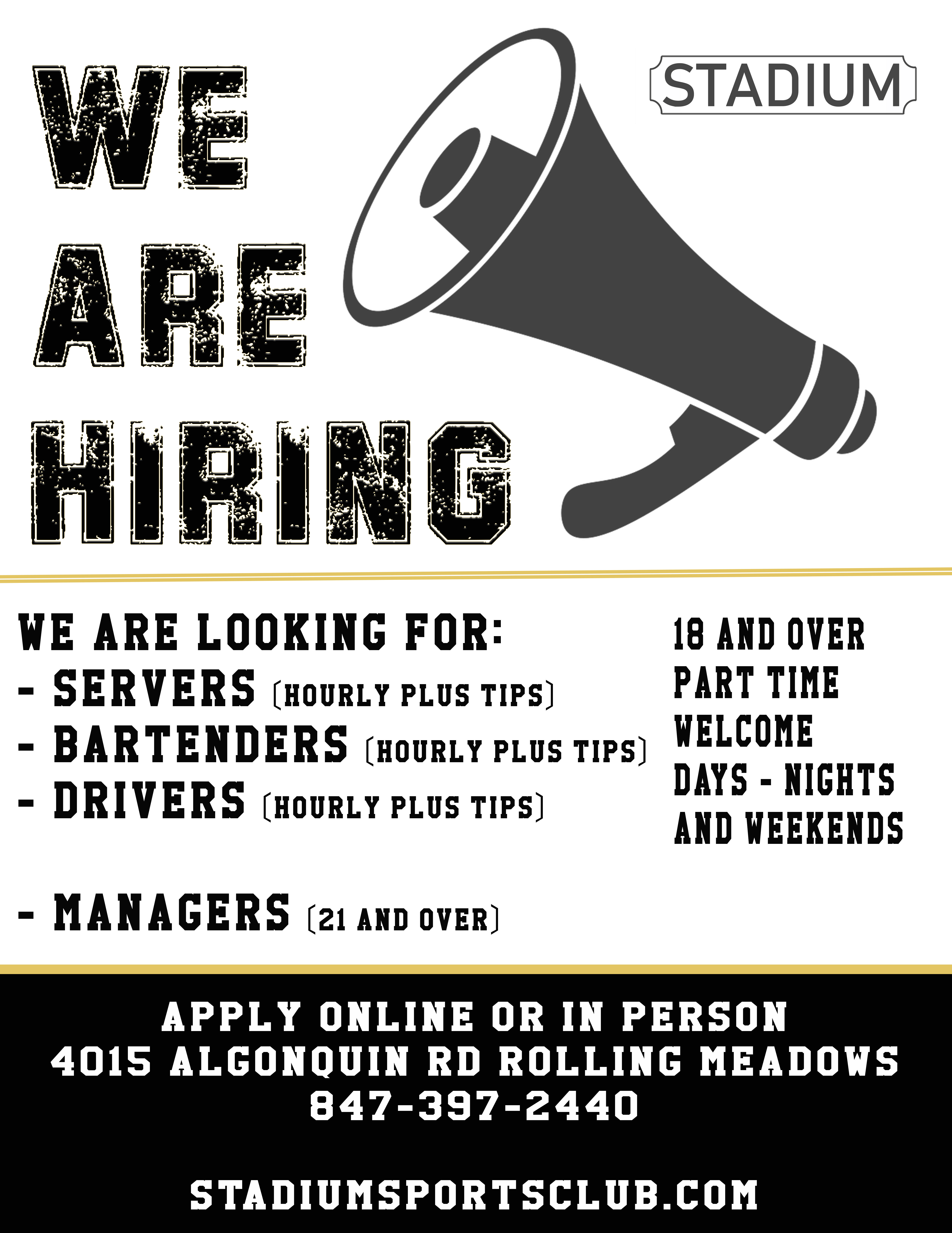 now hiring rolling meadows